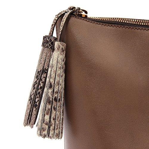 3245S borsa donna HOGAN BIG SHOPPING pelle marrone brown shopping bag woman Marrone