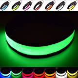 Super Bright USB Rechargeable LED Dog Safety Collar - Great Visibility & Improved Safety - 4 Colours, 3 Sizes (Green, Large)