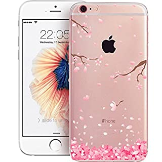 iPhone 5C Cherry Blossom Case TPU Phone Case, Cherry Life Cherry Blossom Pattern Ultra-Thin Soft Gel TPU Silicone Case