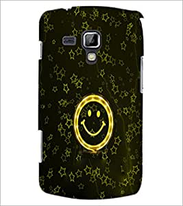 PrintDhaba Smily D-3982 Back Case Cover for SAMSUNG GALAXY S DUOS S7562 (Multi-Coloured)