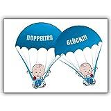 1 Babykarte: Süße Zwillings Babykarte zur Geburt von Zwillings Jungen: Doppeltes Glück!!!