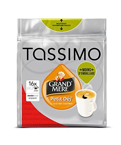 Preisvergleich Produktbild Tassimo Grand'Mere Petit Dejeuner, Kaffee, Kaffeekapsel, gemahlener Röstkaffee, 16 T-Discs (8 Portionen)