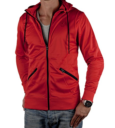 Jack & Jones Herren Trainingsjacke FRAME SWEAT in 2 Farben (M, FRAME Rot)