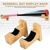 Explea Soporte De Pared De Bate De Béisbol para Pantalla Horizontal - Vitrina De Palo De Bambú para Colocar Palo De Béisbol Bate De Béisbol Softball Stick De Hockey Sweetie
