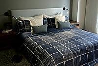 Juego de sábanas estampado INDIGO (para cama de 135x190/200)