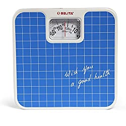 Belita Bps-M-1101 Square Display - Large Surface Personal Analog Weighing Scale Upto 120 Kg