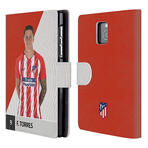 Official Atletico Madrid Fernando Torres 2017/18 First Team Group 1 Leather Book Wallet Case Cover Compatible For Blackberry Passport