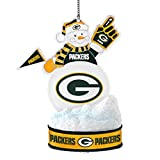 NFL Green Bay Packers LED Snowman Ornament