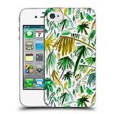 Head Case Designs Offizielle Ninola Tropische Weisse Palmen Botanisch 2 Soft Gel Hülle für iPhone 4 / iPhone 4S