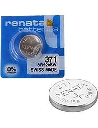 2 x Renata Uhrenbatterie - Swiss made Cells Silberoxid 0% Quecksilber Knopfzellen 1.55V Renata Batterien des langen Lebens 371 (SR920SW )
