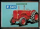 Heart of Ireland Traktor Mini-Blechschild Blechpostkarte - Hanomag R545-8x11cm Nostalgieschild Retro Schild Metal Tin Sign