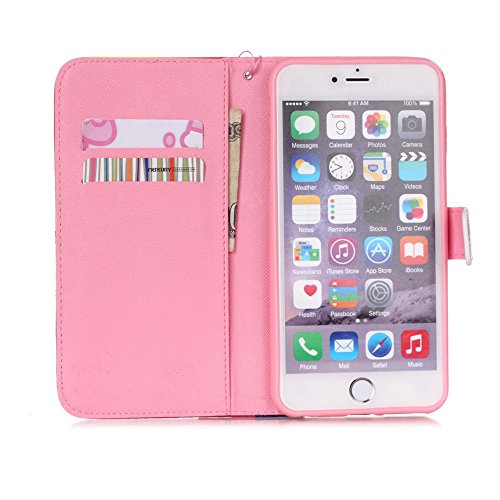 Nutbro iPhone 6S Case, iPhone 6 Case 4.7 inch, Premium PU Leather Wallet [Stand Feature] with Built-in Credit Card Slots Wallet Case for Apple iPhone 6/ iPhone 6S 4.7 inch 21