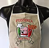 Schürze Pizza bestickt Personalisierte Vornamens Hat