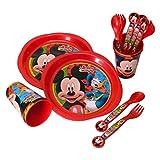 Micky Maus Geschirrset mit 16 Teilen - Mickey Mouse Geschirr Set