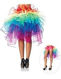 Pixnor Womens Fantasy geschichtet tanzenden Tutu Rainbow Bustle Skirt