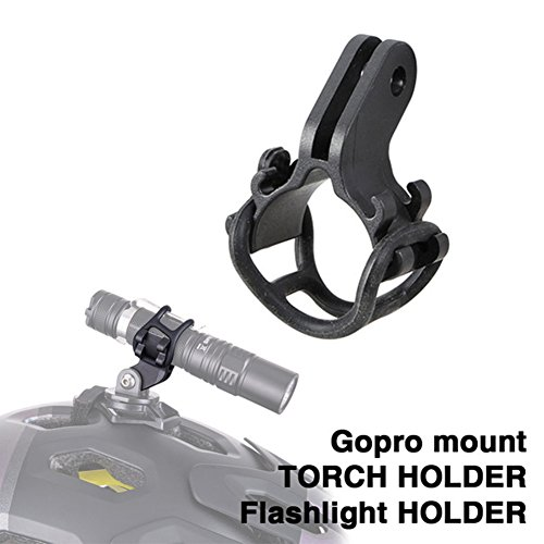 Swall owuk Bicicletta torcia morsetto supporto faro LED torcia elettrica del supporto della bicicletta Clip Clamp con interfaccia fotocamera per sport d' azione