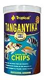 TANGANYIKA, sinkende Flocken / Chips, 1000ml / 520 g, für große Buntbarsche aus dem...