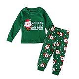 moresave bebé ropa conjuntos Navidad disfraz Papá Noel Impreso Tops + elástica pantalones traje
