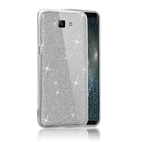 Custodia Samsung Galaxy J5 Prime G5700 Cover Case , Vandot [360 gradi] 3 in 1 Protezione Completa Glitter Sparkle Bling Bling Trasparente Custodia per Samsung Galaxy J5 Prime G5700 Cover Case Caso Gom 360 Nero