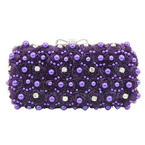 Ladies'handbag Party Banquet Femminile Diamante Del Sacchetto Del Sacchetto Delle Nuove Ragazze Purple