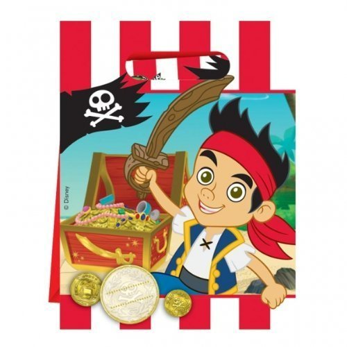 (Jake & The Neverland Piratens Jake & The Neverland Piratens Party - Beute Tüte x 6)