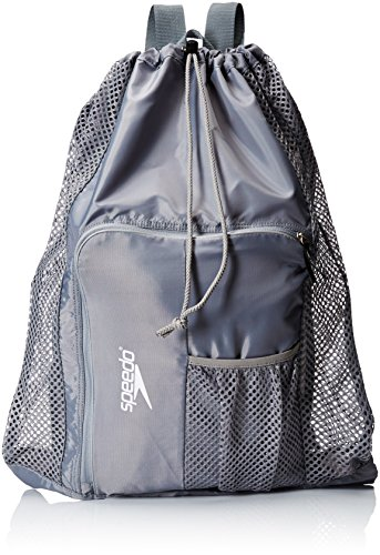 Speedo Deluxe Ventilator Mesh Equipment Bag, Frost Grey
