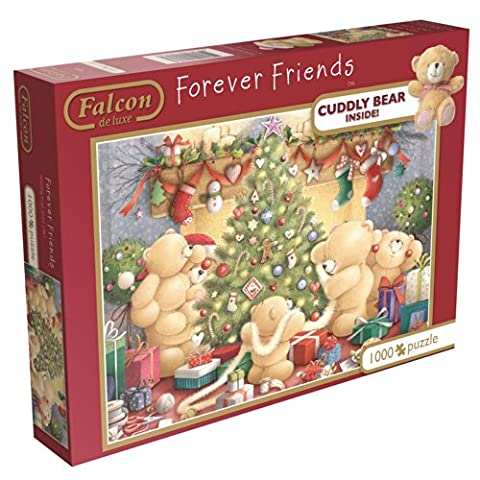 Falcon de Luxe - Forever Friends with Plush Teddy Bear (1000 Pieces) - Jumbo Care Bears