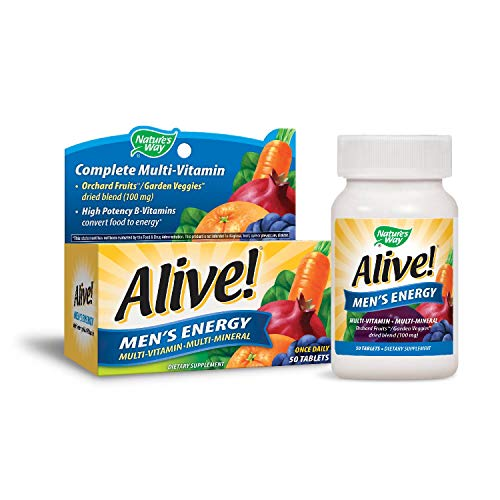 Alive Vitamin (Alive! Men's Energy Multi-vitamin 50 Tabs by Nature's Way (English Manual))