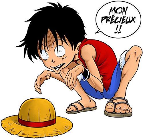 Pull Manga - Parodie Luffy de One Piece et Gollum de LOTR - Mon Précieux (Super Deformed) - Pull Noir - Haute Qualité (851) Noir
