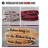 schenkYOU® Wickelarmband mit Gravur gestalten - Echt Lederarmband mit Ihrem Wunschtext graviert Vergleich