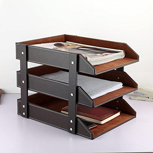 Nclon Desktop organizer,Schreibtisch Officesupplies Briefablage Schreibtisch Desktop Remote control -A Control Bambus
