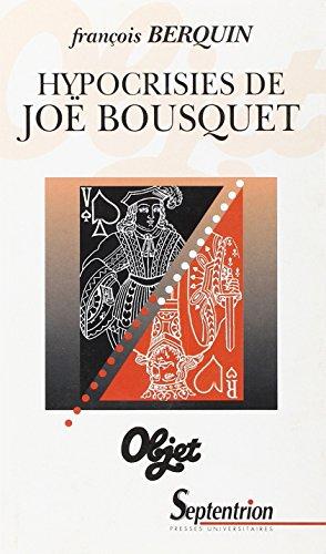 Hypocrisies de J. Bousquet