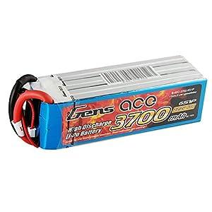 Gens ace B-60C-3700-6S1P Pieza para maquetas Radio Control (RC) - Piezas para maquetas Radio Control (RC) (Batería, Multicolor, Polímero de Litio, 3700 mAh, 22,2 V, 606 g)