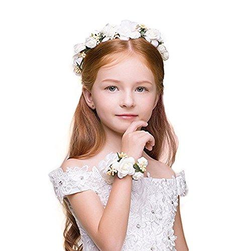 Miss KeKe Kranz Handgelenk Blume Kind Handgelenk Blume Zweiteilige Erwachsene Hochzeitskleid...