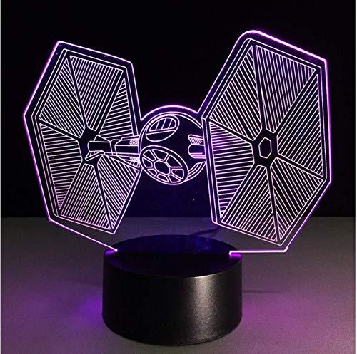 Krawatte Kämpfer 3D Nachtlicht Led Schreibtischlampe Baby Raum Usb Luminary Nachtlicht Lampen Lampen Für Star Wars Fans (Star Wars Baby-raum)