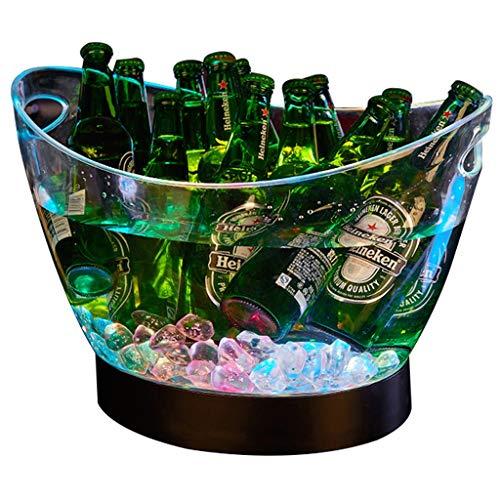 Eiskübel Farben ändern LED Kühler Eimer Große Kapazitäts-Champagner Wein Getränke Bier-Wanne for KTV Party Bar Startseite Hochzeit SYHZHY (Dutzend Champagner-gläser)