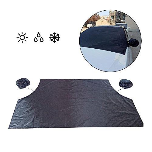 Auto Windschutzscheibe Cover Magnetic, Frost Guard Spiegel Schneedecke Double Side Ice Shield Design, Sonnenschutz, Wasser, Staub - Passend für Die Meisten Autos, Trucks, SUV (84,6