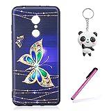 Funda Xiaomi Redmi 5 Plus Mariposa colorida Mariposas Suave TPU Silicona Anti-rasguños Protector...