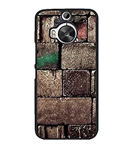 Fiobs High Glossy Designer Phone Back Case Cover HTC One M9 Plus :: HTC One M9+ :: HTC One M9+ Supreme Camera ( Stone Type Pattern Design Oil Paint )