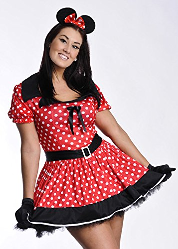 Plus -Size-Minnie Mouse Girl Kostüm