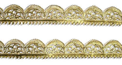 Kunze A120204011 Goldborte, 55 x 11.5 cm, Geprägtes Papier