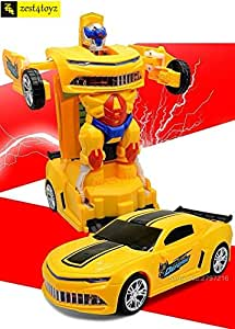 Zest 4 Toyz Robot To Car Converting Transformer Toy For Kids.