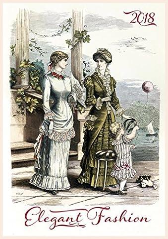 Calendrier mural 2018 [12 pages 20x30cm] Victorian Fashion Lady Vintage Vogue Magazine Fashion Engravings [Calendar]