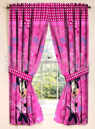 opiniones de minnie mouse cortinas 104 x 160 cm 2 piezas. Black Bedroom Furniture Sets. Home Design Ideas