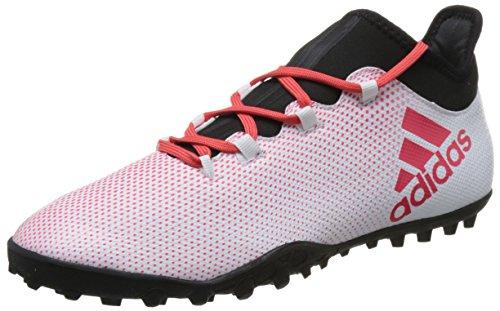 adidas Herren X Tango 17.3 TF Fußballschuhe, Grau (Grey/Real Coral S18/Core Black), 42 2/3 - Fußball Schuhe Kunstrasen