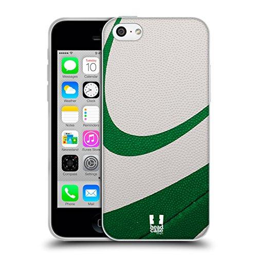 Head Case Designs Basketball Ball Kollektion Soft Gel Hülle für Apple iPhone 5 / 5s / SE Rugby