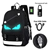 Best Backpacks For Boys - Anime Luminous Backpack Noctilucent School Bags Daypack USB Review