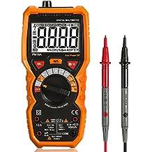 Multímetros Multi probador rango multímetro digital automático con True RMS 6000 cuentas NCV detección Volt Amp Ohm Medidor Pantalla LCD y linterna