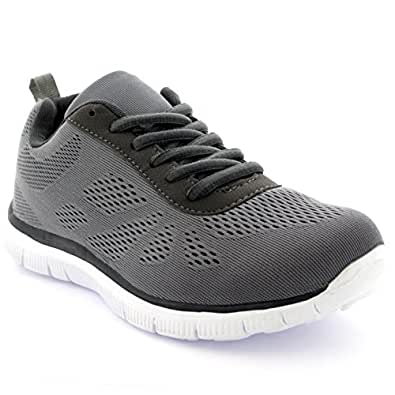 Get Fit Womens Mesh Go Running Trainers Athletic Walk Gym