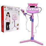 Montre réglable pour microphone pour enfants Karaoke - Wishtime ZM16038 Fonction de musique externe rose et lumières clignotantes Jouet pour enfants Filles
